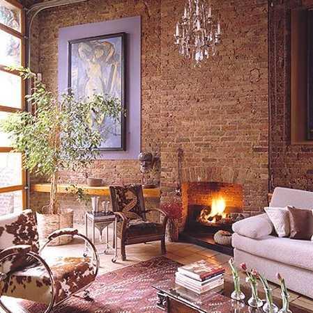 22 Modern Interior Design Ideas Blending Brick Walls with ... on Brick Wall Decorating Ideas  id=58597
