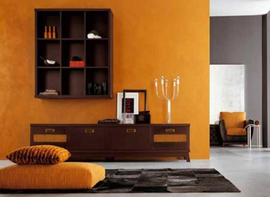 22 Modern Interior Design Ideas Blending Brown And Orange