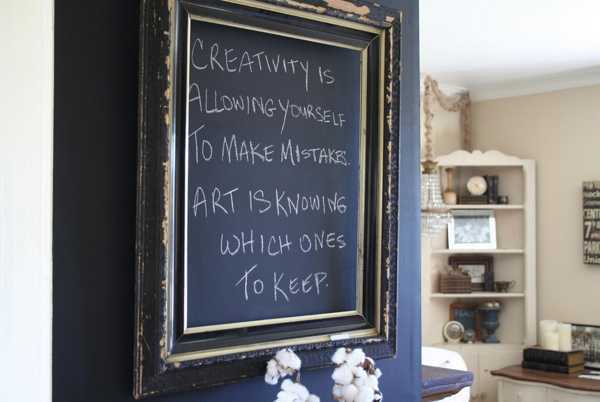 Creative Interior Decorating Ideas 26 Black Chalkboard Paint Projects