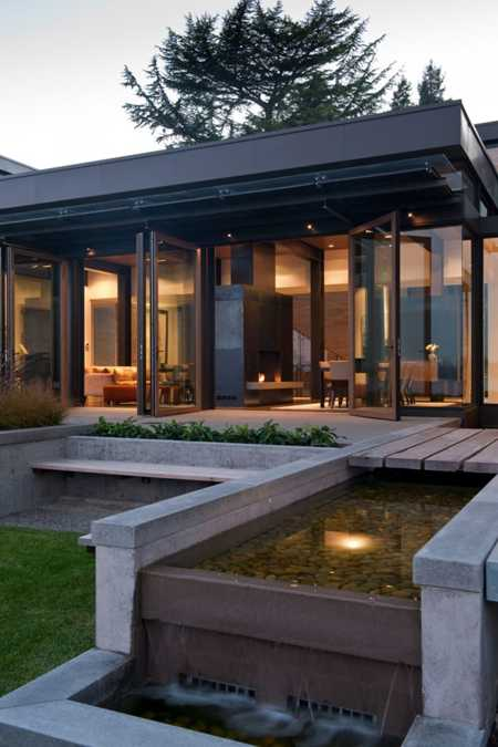 Large Modern House Design With Water Features Inspired By