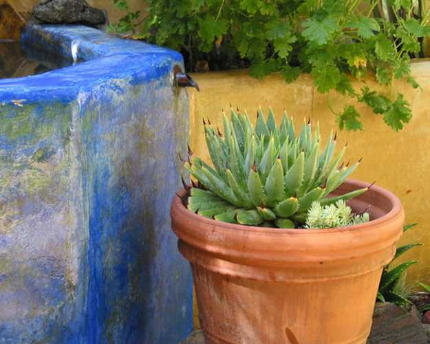 Mexican Style Garden Designs and Yard Landscaping Ideas on Mexican Backyard Decor id=55697