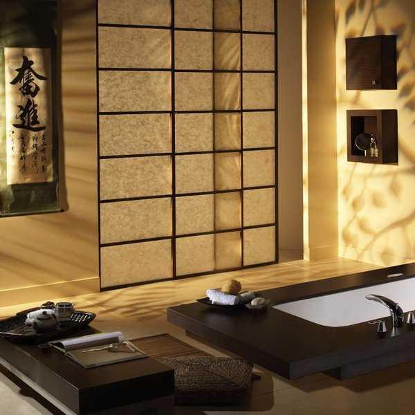 Elegant Modern Bathroom Design Blending Japanese