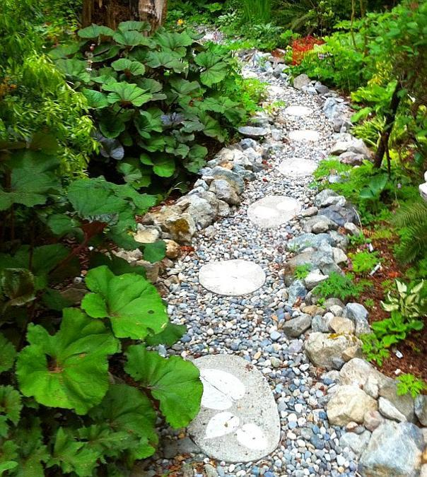 25 Unique Backyard Landscaping Ideas and Garden Path ... on Pebble Patio Ideas id=13381
