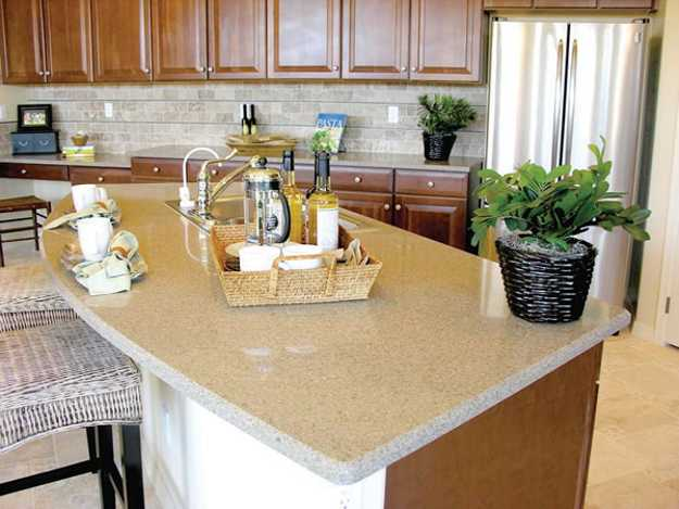 40 Great Ideas for Your Modern Kitchen Countertop Material ... on Modern Kitchen Countertop Decor  id=49062
