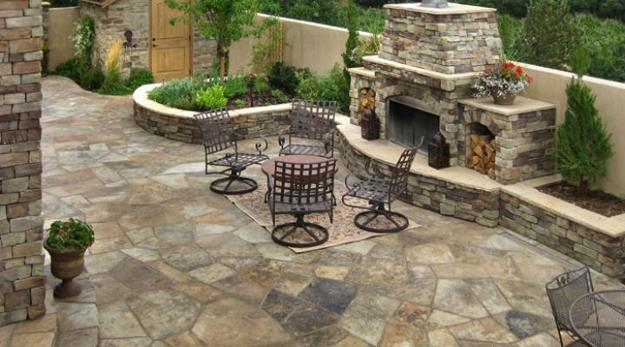 30 Stone Wall Pictures and Design Ideas to Beautify Yard ... on Rock Patio Designs  id=55041