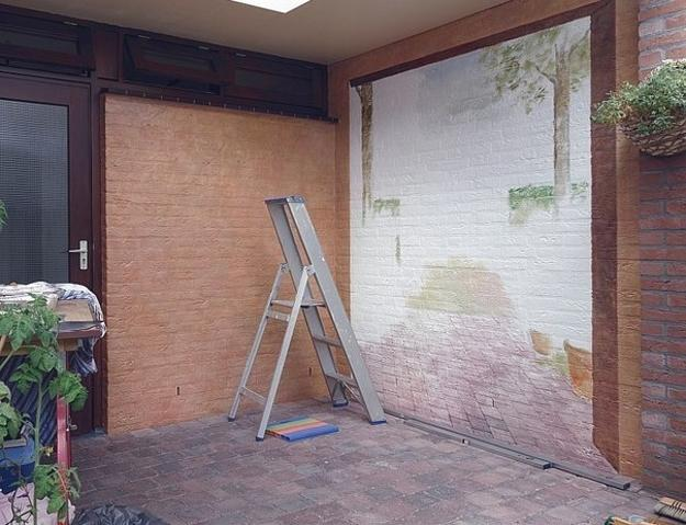 Amazing Painting Ideas for Brick Walls Creating Optical ... on Brick Painting Ideas  id=45431