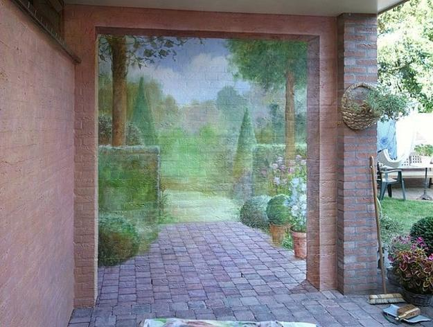 Amazing Painting Ideas for Brick Walls Creating Optical ... on Brick Painting Ideas  id=62903