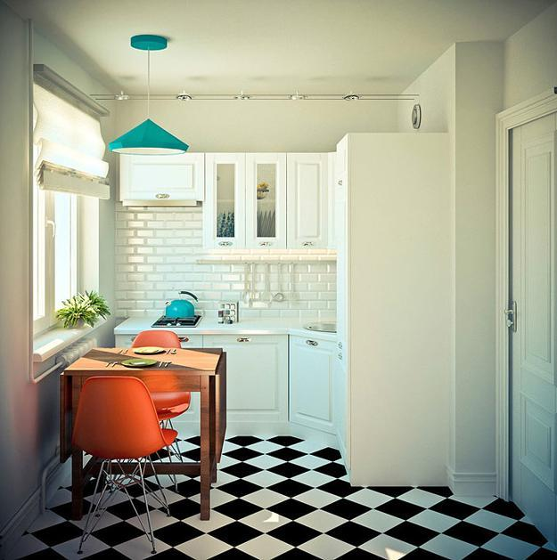 Modern Interior Design Playing With Contrasting Blue And Orange Colors
