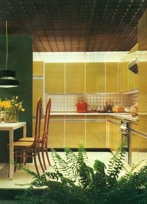 Small Kitchen Designs In Yellow And Green Colors