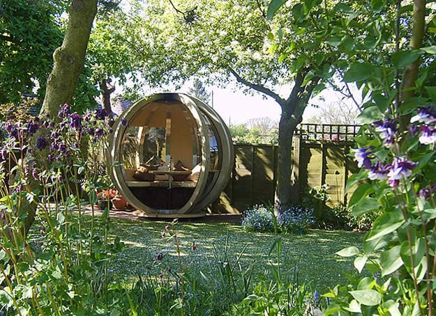 Sphere Garden Houses Adding Contemporary Touch to Backyard ... on Mansion Backyard Ideas id=59386