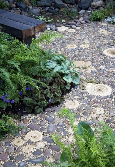 Beautiful Garden Path Designs and Ideas for Yard ... on Pebble Yard Ideas id=96347