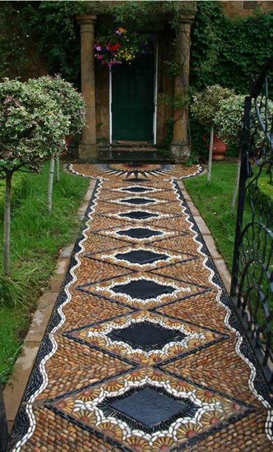 Beautiful Garden Path Designs and Ideas for Yard ... on Pebble Yard Ideas id=22561