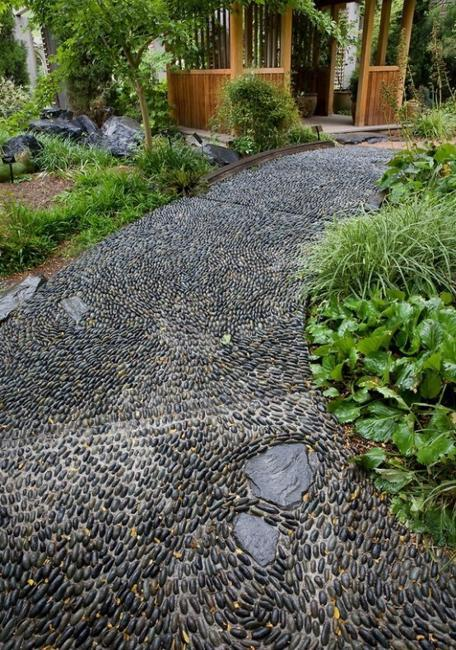 Purple Garden Pebbles
