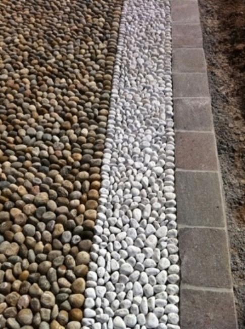 Beautiful Garden Path Designs and Ideas for Yard ... on Pebble Yard Ideas id=34328
