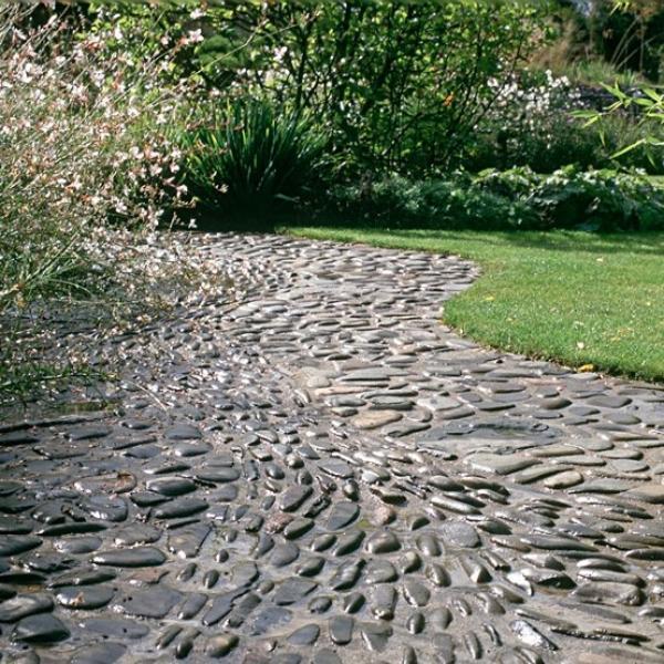 Beautiful Garden Path Designs and Ideas for Yard ... on Backyard Pebble Ideas id=15212