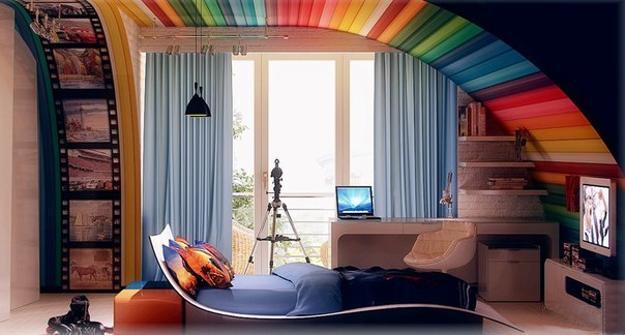 Modern Ideas for Teenage Bedroom Decorating in Unique ... on Teenage:m5Lo5Qnshca= Room Ideas  id=38415
