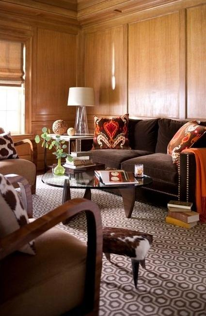 Black And Brown Colors Modern Interior Design Trends