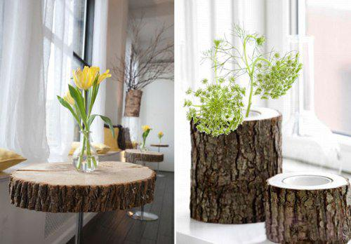 Modern Log Furniture Adding Chic Eco Friendly Products To