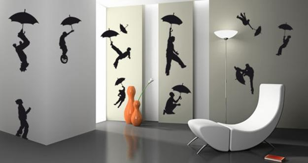 Silhouette Artworks Inspiring Creative Wall Decoration for ... on Creative Wall Design Ideas  id=69786