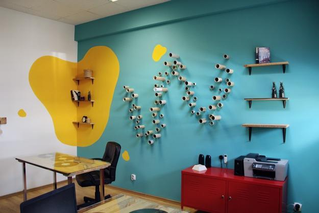 Bright Colors and Creative Wall Decorations for Modern ... on Creative Wall Design Ideas  id=56354