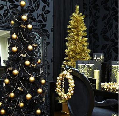 Gold Black Christmas Decorating Ideas