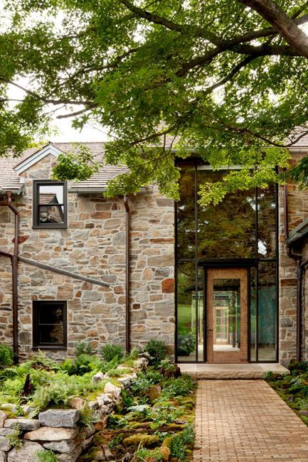 Modern Redesign Of Old Country Home With Antique Stone