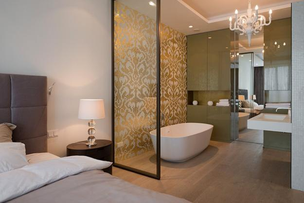 30 All in One Bedroom and Bathroom Design Ideas for Space ...
