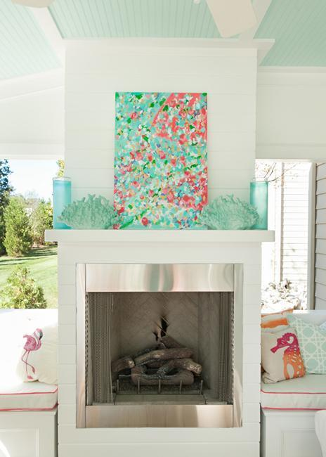 Outdoor Home Decorating Ideas Light Blue And Pink Color