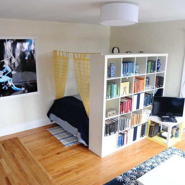 25 Room Dividers With Shelves Improving Open Interior