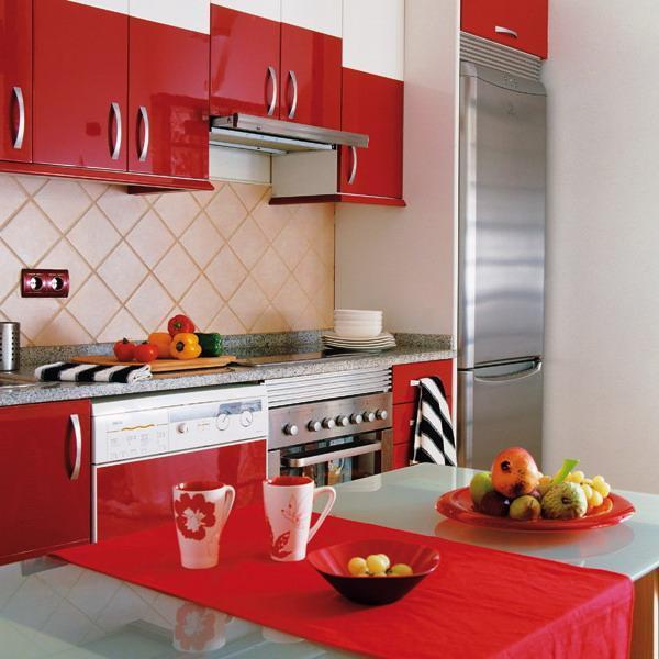 50 Plus 25 Contemporary Kitchen Design Ideas, Red Kitchen ...