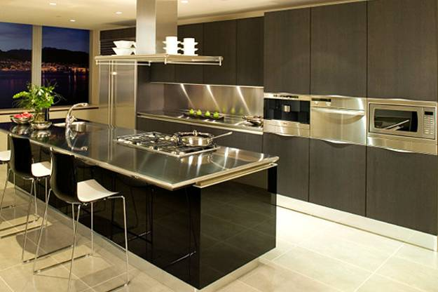 100 Plus 25 Contemporary Kitchen Design Ideas, Stainless ... on Modern Kitchen Countertop Decor  id=25937