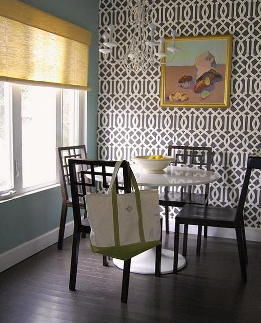 Dining Room Design And Decorating With Modern Wallpaper