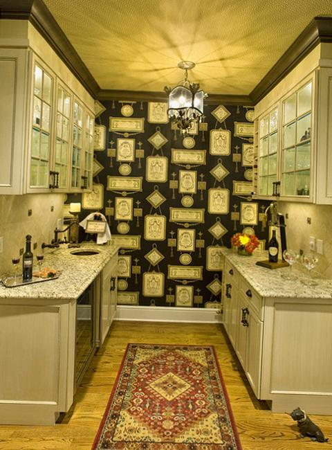 Modern Wallpaper for Small Kitchens, Beautiful Kitchen ... on Traditional Kitchen Wall Decor  id=44597
