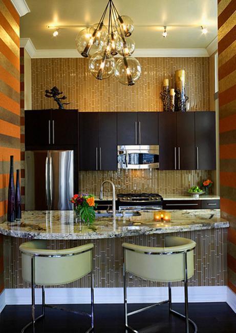 Modern Wallpaper for Small Kitchens, Beautiful Kitchen ... on Modern Kitchen Decorations  id=89206