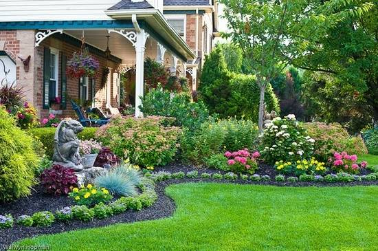 house beautiful garden design Invisible Flower Bed Borders for Natural and Beautiful