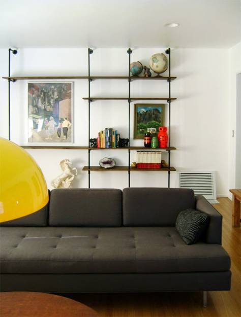 Diy Shelving Unit Made With Plumbing Pipes And Fittings