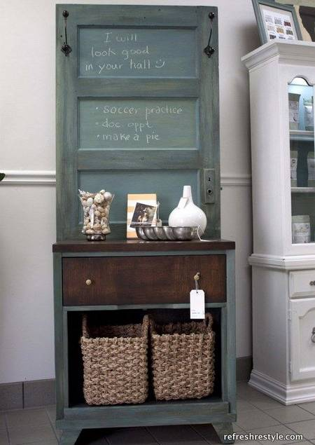 Unique Vintage Furniture Recycling Wood Doors 30 Modern Ideas