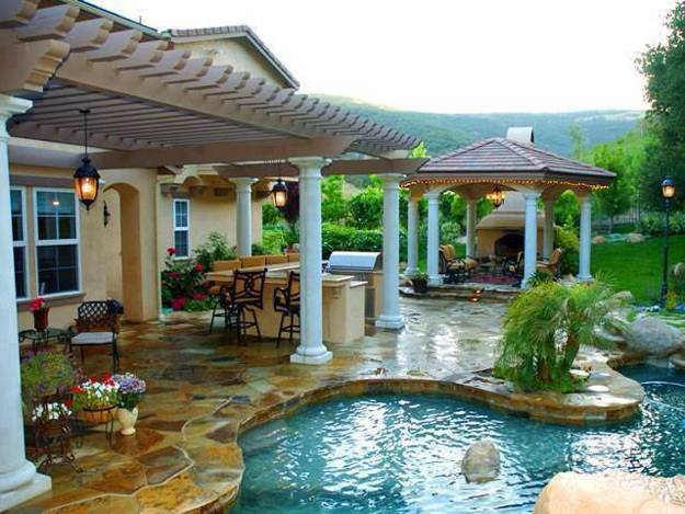 100 Swimming Pools Increasing Home Values and Decorating ... on Backyard Pool Decor Ideas id=86219