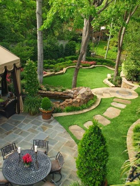 25 Inspiring Backyard Ideas and Fabulous Landscaping Designs on Patio And Grass Garden Ideas id=84718