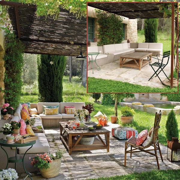 Bringing Bright Color Accents into Outdoor Rooms, Before ... on Backyard Patio Decorating Ideas id=76084