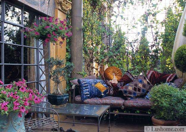 20 Moroccan Decor Ideas for Exotic and Glamorous Outdoor Rooms on Moroccan Backyard Design  id=18503