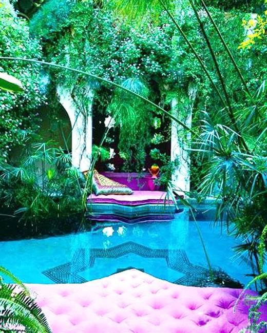 25 Modern Backyard Ideas to Create Beautiful Outdoor Rooms ... on Moroccan Backyard Design  id=96235