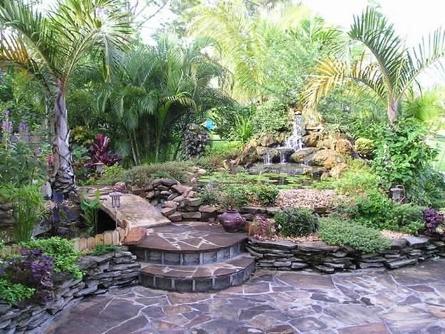 20 Spectacular Backyard Ideas, Waterfalls that Top Off ... on Front Yard Waterfall Ideas id=44333