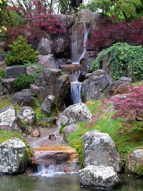 22 Beautiful Waterfalls for Natural Backyard and Front ... on Front Yard Waterfall Ideas id=23278