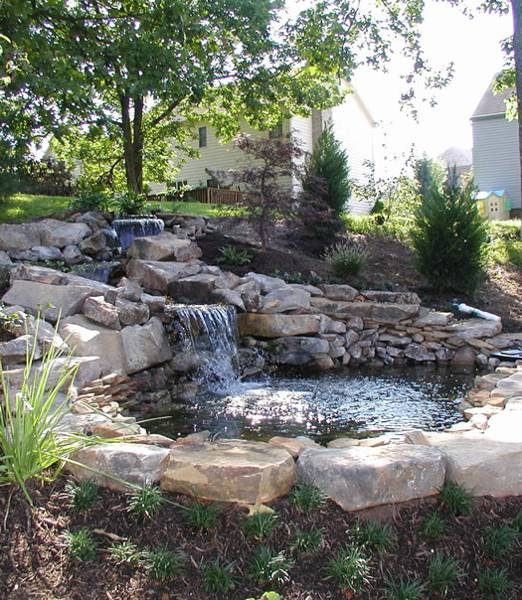 22 Beautiful Waterfalls for Natural Backyard and Front ... on Front Yard Waterfall Ideas id=13441