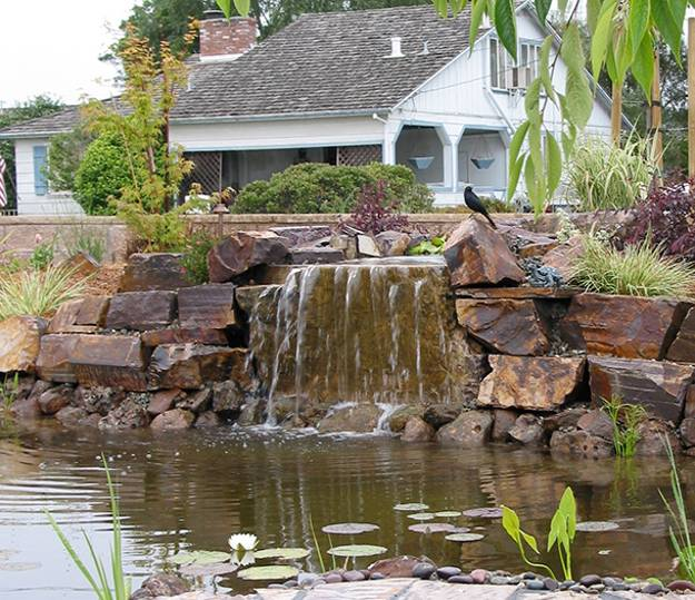 22 Beautiful Waterfalls for Natural Backyard and Front ... on Front Yard Waterfall Ideas id=23708