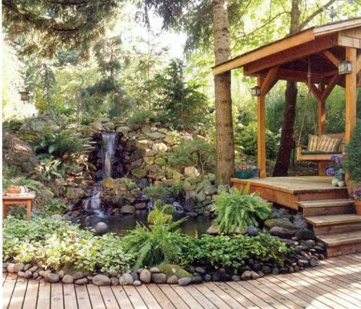 22 Beautiful Waterfalls for Natural Backyard and Front ... on Front Yard Waterfall Ideas id=22109