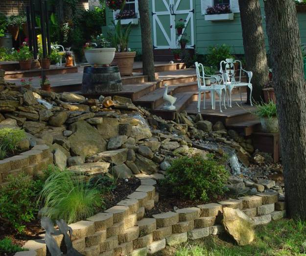 22 Beautiful Waterfalls for Natural Backyard and Front ... on Front Yard Waterfall Ideas id=39439