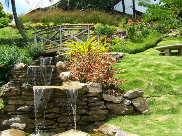 22 Beautiful Waterfalls for Natural Backyard and Front ... on Front Yard Waterfall Ideas id=90537