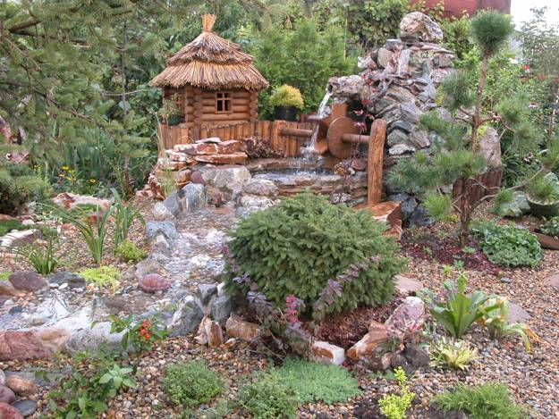 22 Beautiful Waterfalls for Natural Backyard and Front ... on Front Yard Waterfall Ideas id=79945